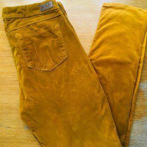Velvet Mustard Yellow Jeans